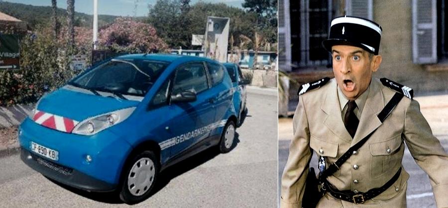 les gendarmes de St Tropez en Bolloré Bluecar