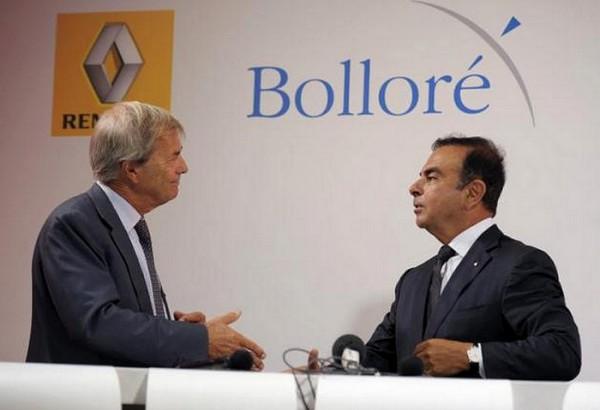 C.Ghosn et V.Bolloré mettent en place la production en France de la Bluecar