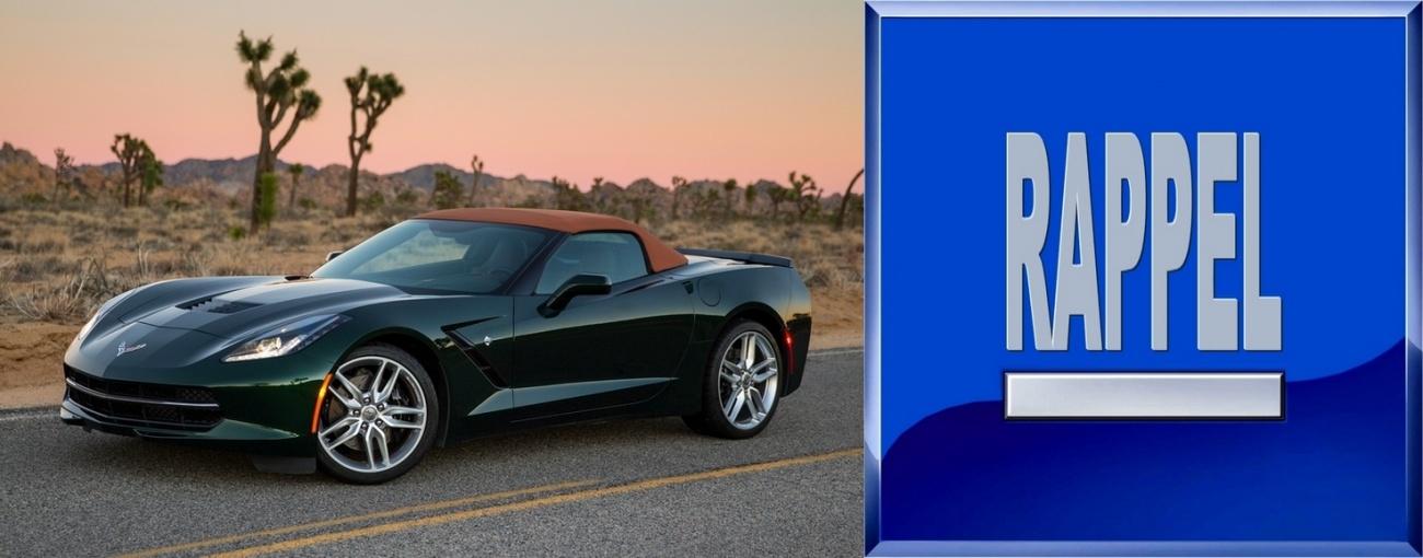 GM-Chevrolet la Corvette au rappel elle aussi
