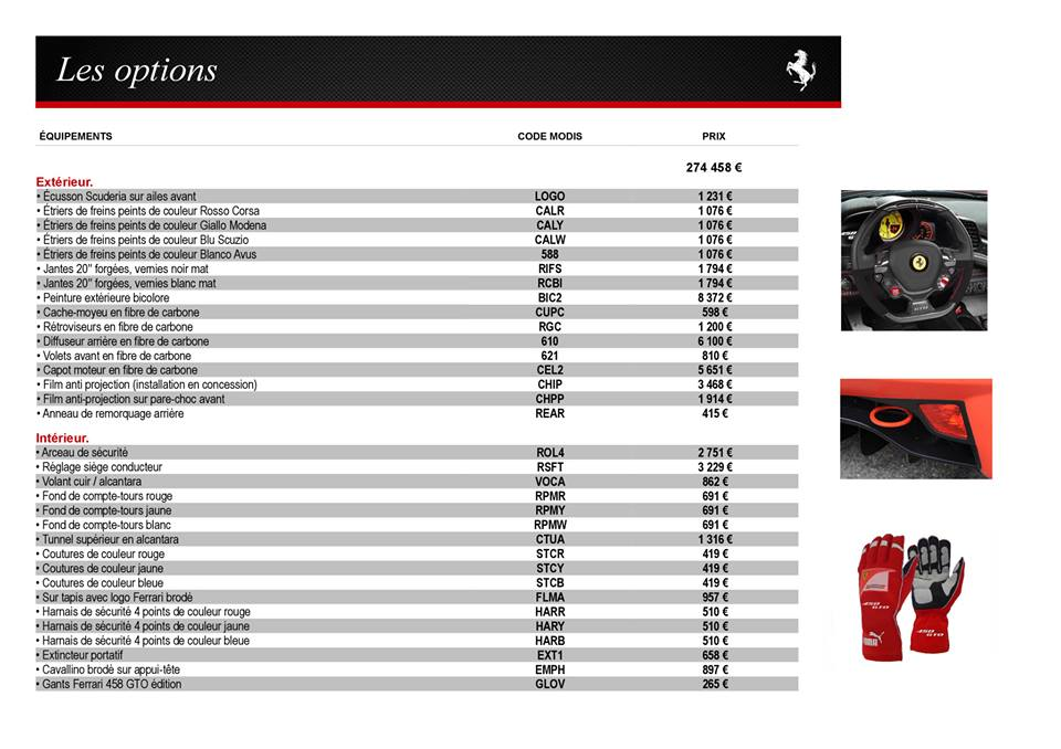 Catalogue  F458  GTO.12