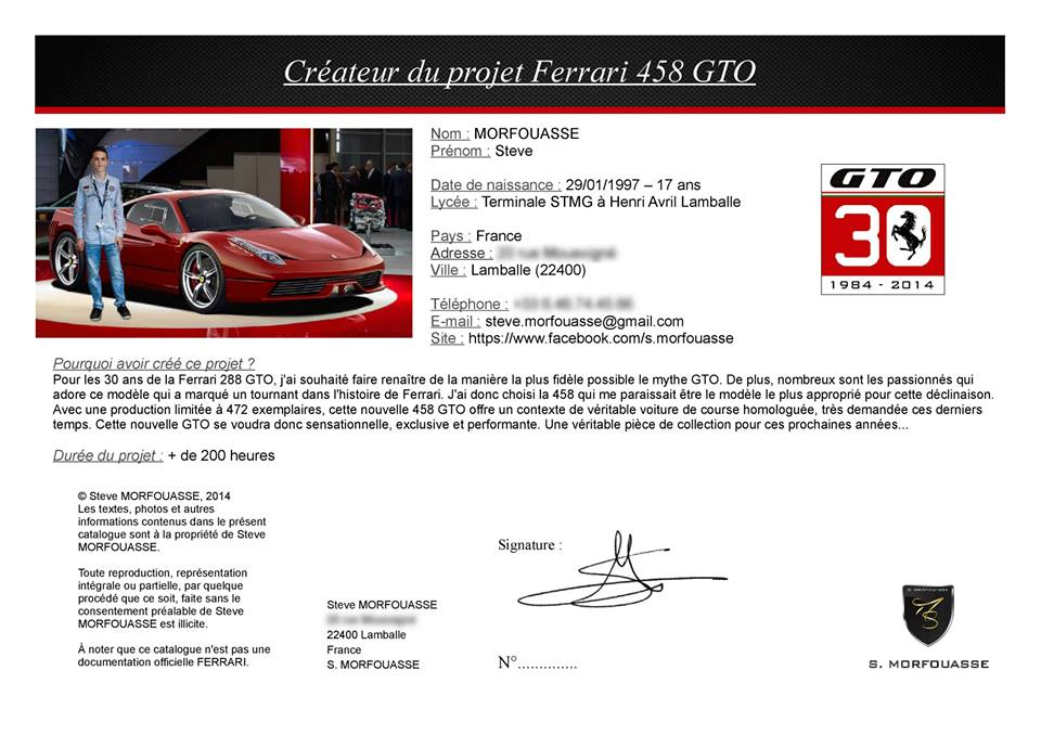 Catalogue  F458  GTO.14