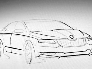 Skoda Superb 2016 -sketch