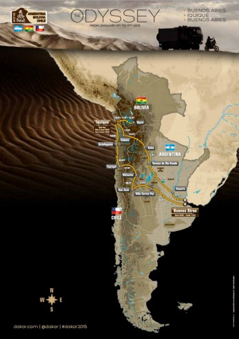 Dakar 2015 le parcours