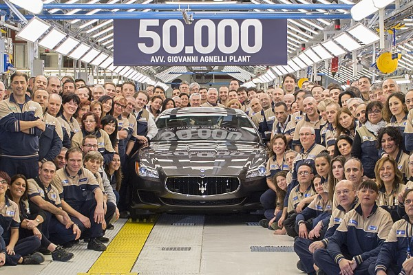 Maserati 50.000 unités en moins de 2 ans à Grugliasco.1