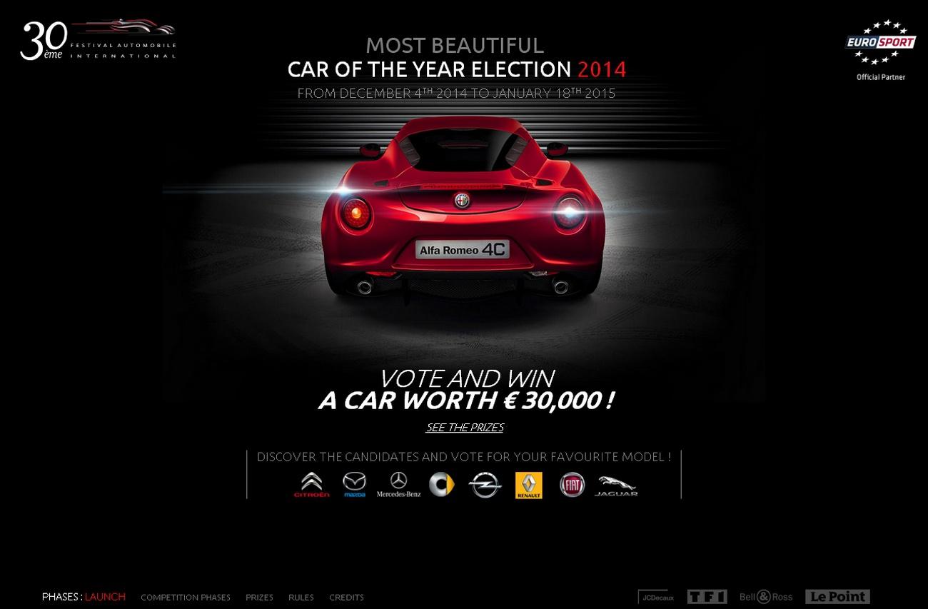 election  de la plus belle voiture de l'année 2014