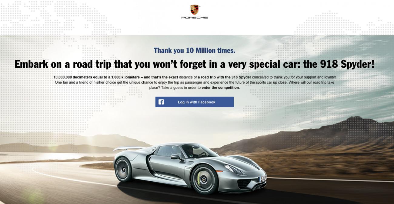 Concours Porsche FB