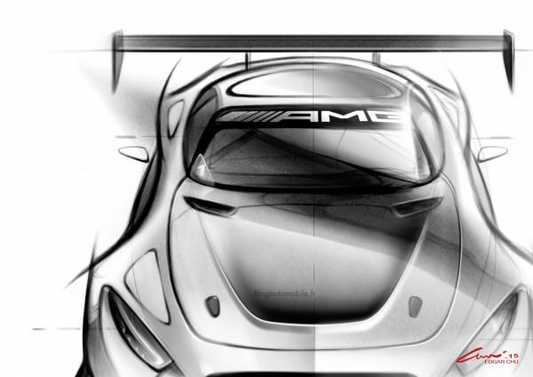 Mercedes AMG GT3 - Dessin blogautomobile 1