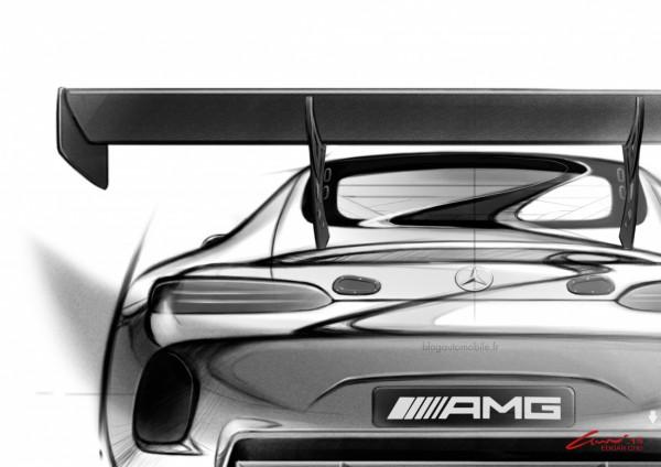 Mercedes AMG GT3 - Dessin blogautomobile 2