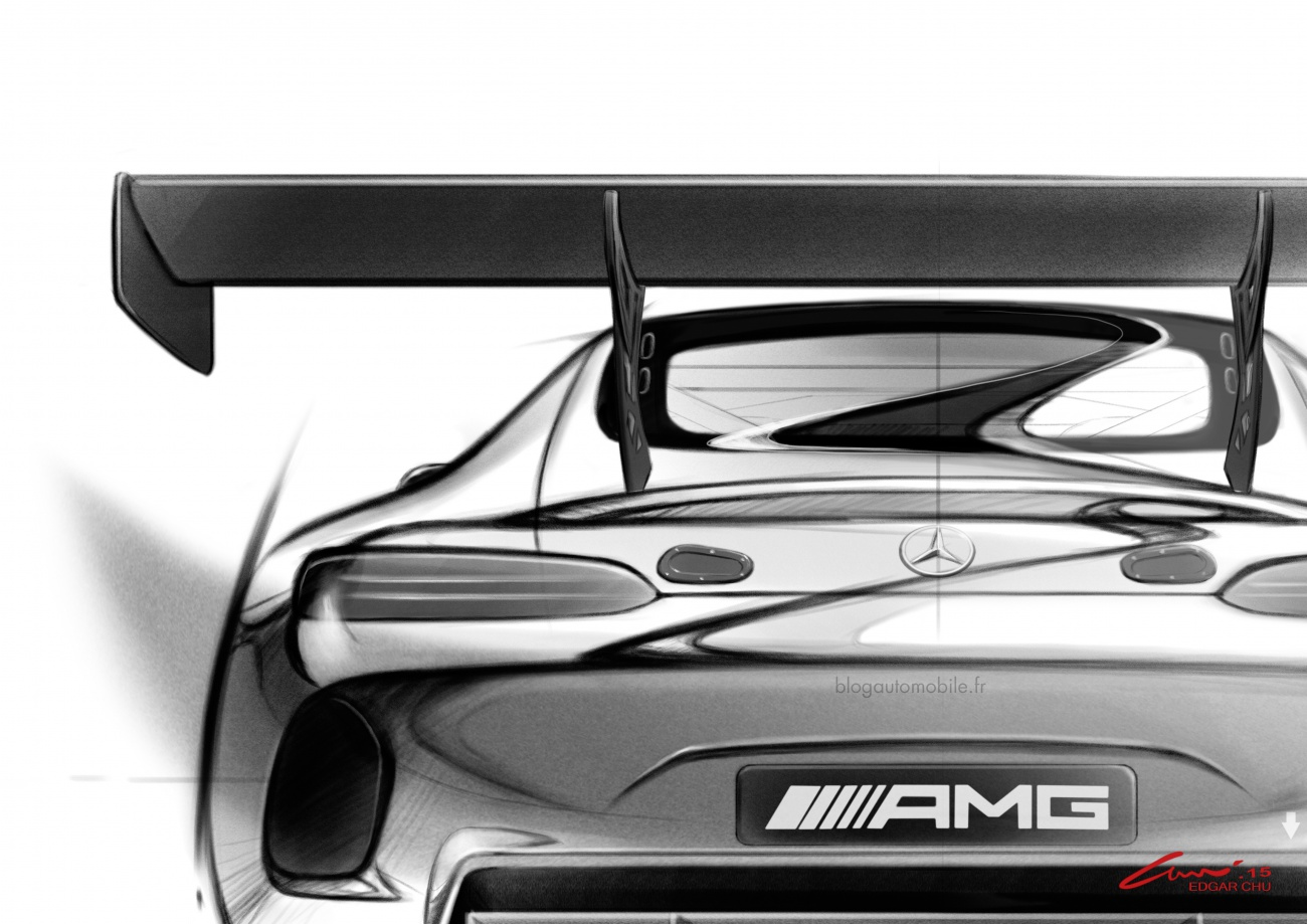 Mercedes AMG GT3 - Dessin blogautomobile 2