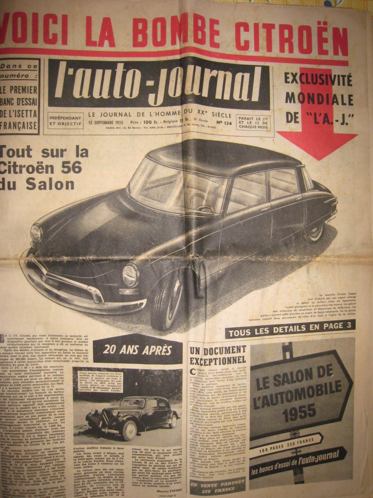 Retour sur la citro n ds blog automobile for Offre d emploi salon de l auto geneve