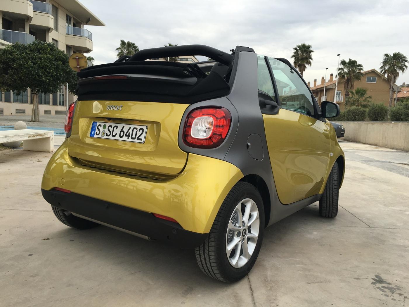 Smart Cabrio - capote ouverte au max