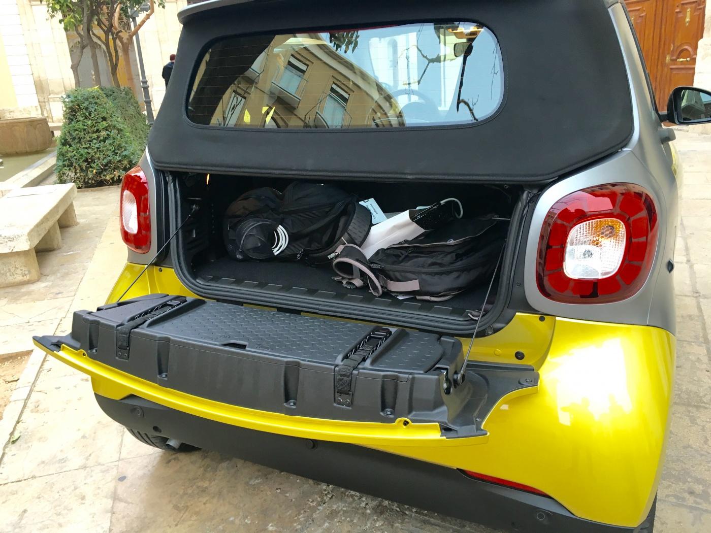 Smart cabrio 2015 - Coffre