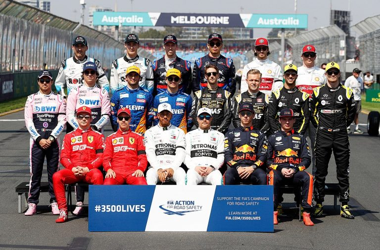 photo pilotes F1 2019 Australie